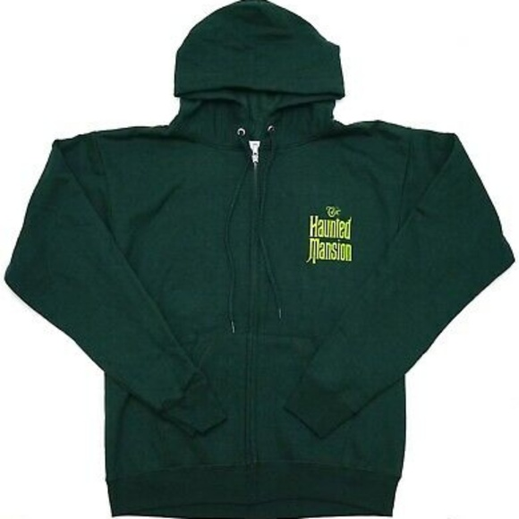 Haunted Mansion Wallpaper Men Zip Up Hoodie